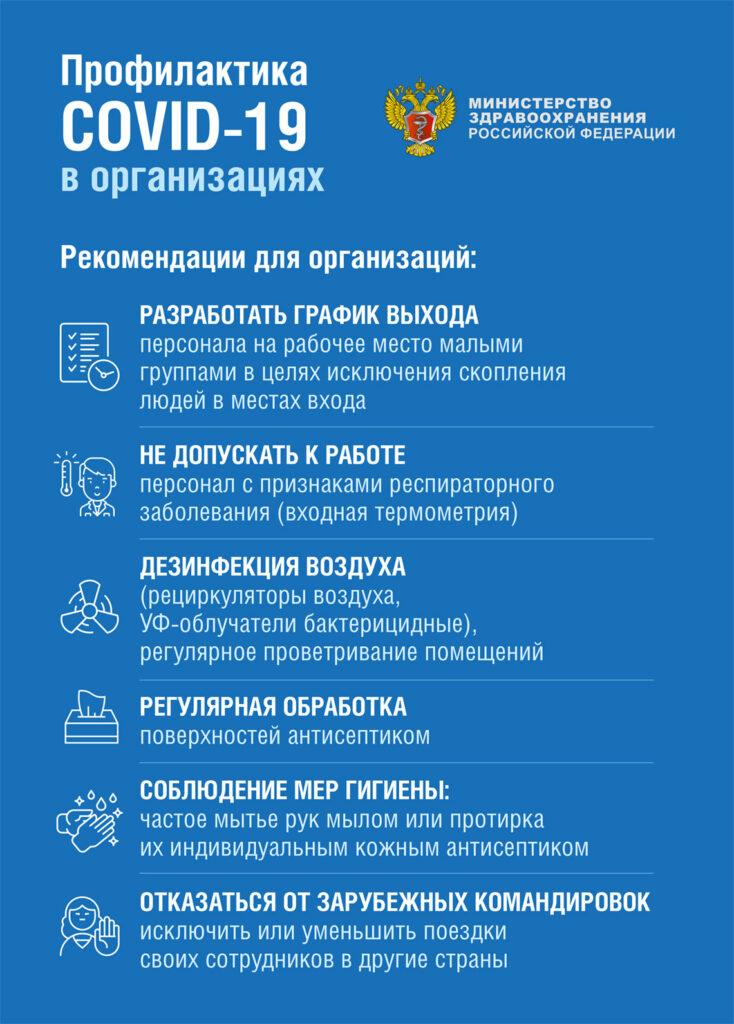 Памятка для организаций МЗ РФ