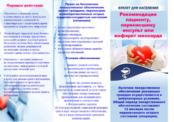 Рекомендации пациенту, перенесшему инсульт или инфаркт миокарда